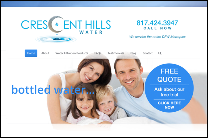 Crescent Hills Water web site designed by Creative Sharks