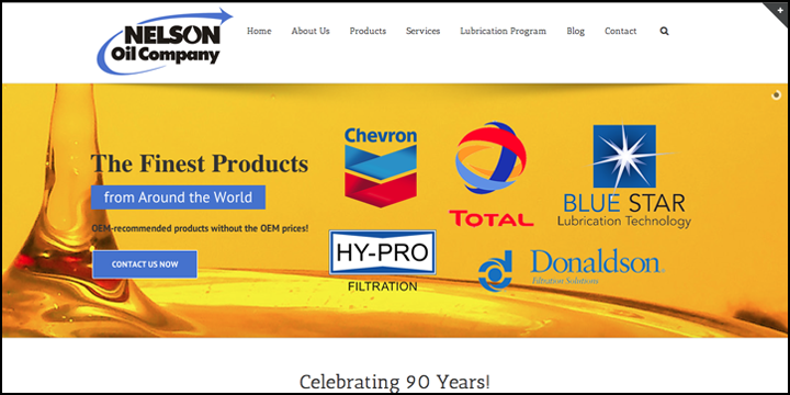 Web site designed by Creative Sharks for Nelson Oil Company