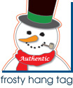 Frosty Hang Tag